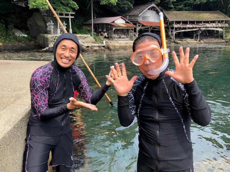 石田靖と西川きよし。(c)関西テレビ