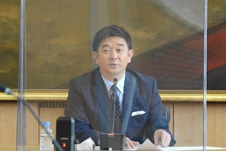 フジテレビの2020年10月改編説明会の司会を務めた伊藤利尋アナウンサー。