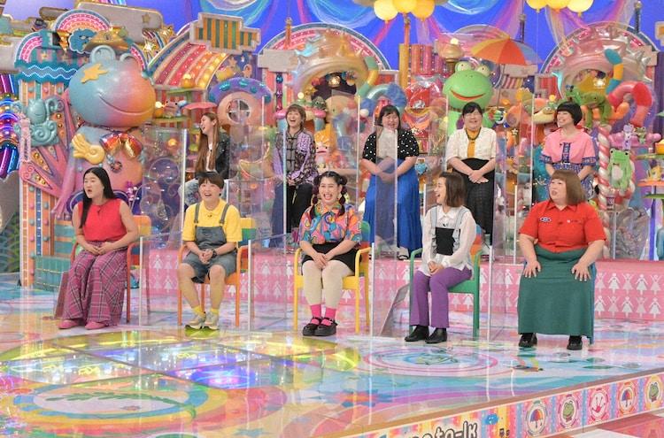 「アメトーーク!」に「若手女芸人」として出演する(前列左から)ガンバレルーヤ、3時のヒロイン、(後列左から)納言・薄幸、ラランド・サーヤ、ぼる塾。(c)テレビ朝日