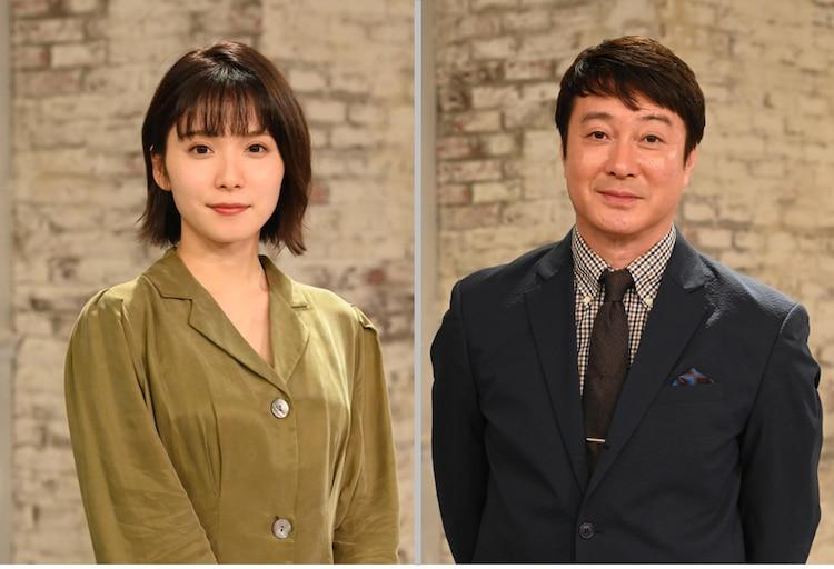 「~両親ラブストーリー~ オヤコイ」MCの(左から)松岡茉優、加藤浩次。(c)読売テレビ