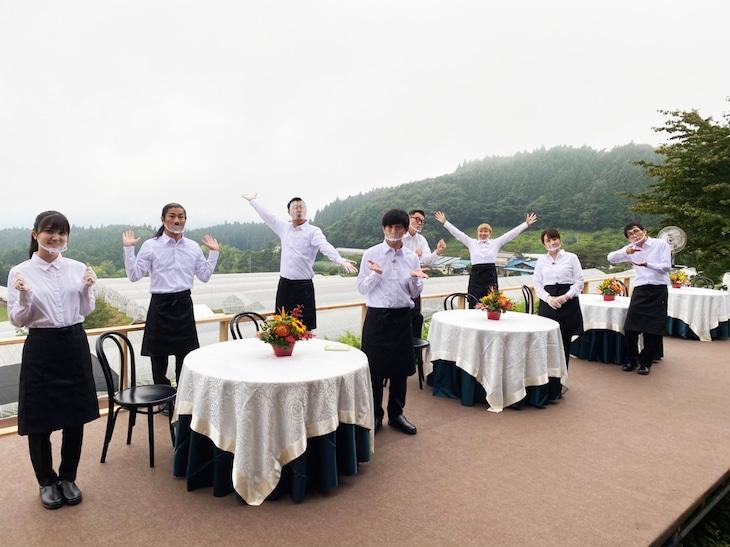 「畑そのまんまレストランにする。in 高崎」の出演者たち。