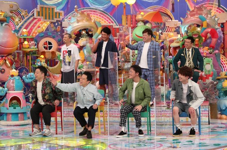 「アメトーーク!」に「東京って難しい芸人」として出演する(前列左から)ダイアン、アインシュタイン、(後列左から)天竺鼠、プラス・マイナス。(c)テレビ朝日