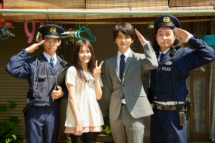 左からかが屋・加賀、久間田琳加、瀬戸利樹、かが屋・賀屋。(c)ABCテレビ
