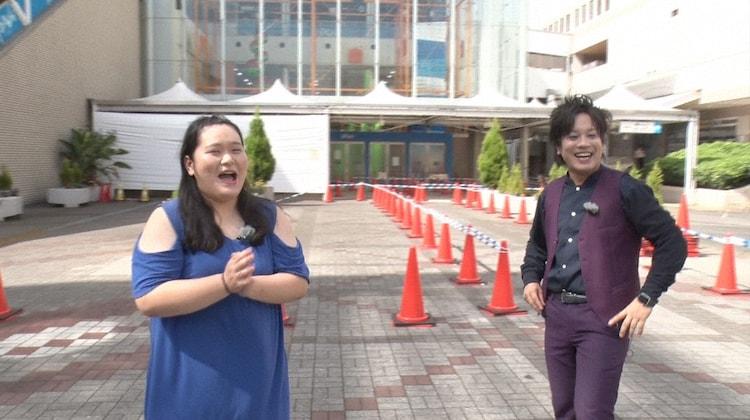 左からぼる塾・田辺、ぺこぱ松陰寺。(c)日本テレビ