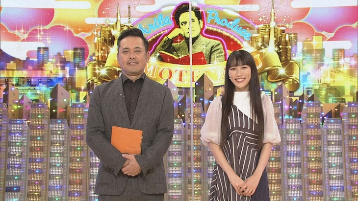 くりぃむしちゅー有田(左)とゲストの高城れに(右)。(c)NHK