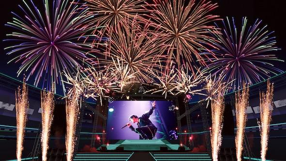 "「KYOSUKE HIMURO 60th ANNIVERSARY ONLINE HANABI LIVE ""DISTANCE""」イメージ"