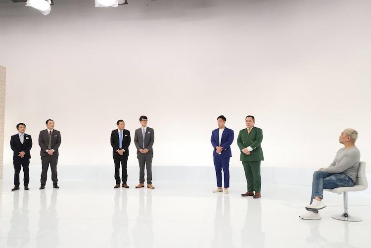 (左から)中川家、ナイツ、ミルクボーイ、松本人志。(c)フジテレビ