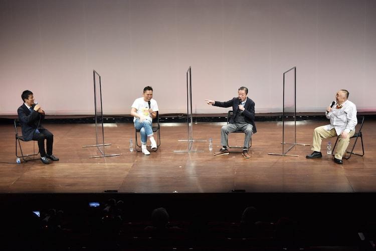 (左から)山田雅人、爆笑問題・太田、高田文夫、松村邦洋。