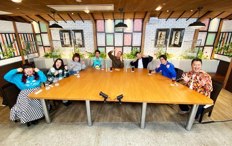 「帰れま10」に出演する(左から)3時のヒロイン、タカアンドトシ、市川猿之助、中村隼人、ブラックマヨネーズ小杉。(c)テレビ朝日