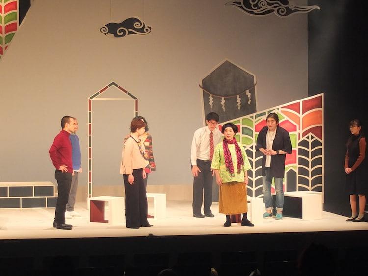 劇団かもめんたる第10回公演「HOT」初日の様子。