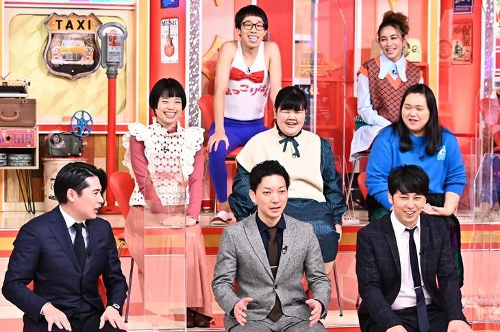 「有田プレビュールーム」の出演芸人たち。(c)TBS