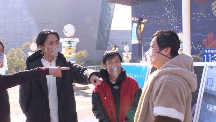 ナインティナイン、キングコング梶原(左)、霜降り明星せいや(右)。(c)フジテレビ
