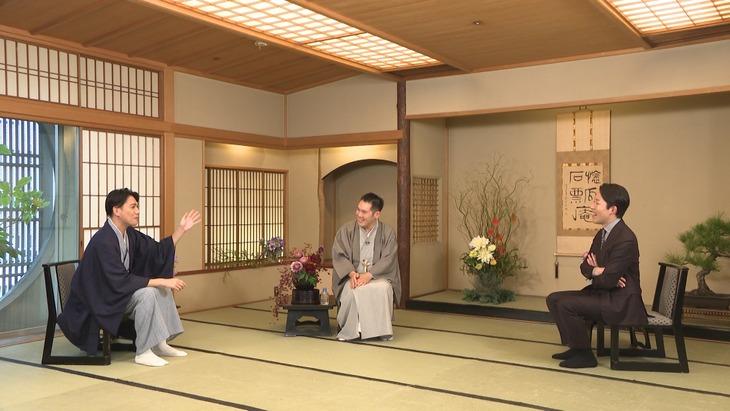 「ボクらの時代」に出演する(左から)瀧川鯉斗、神田伯山、オリエンタルラジオ中田。(c)フジテレビ