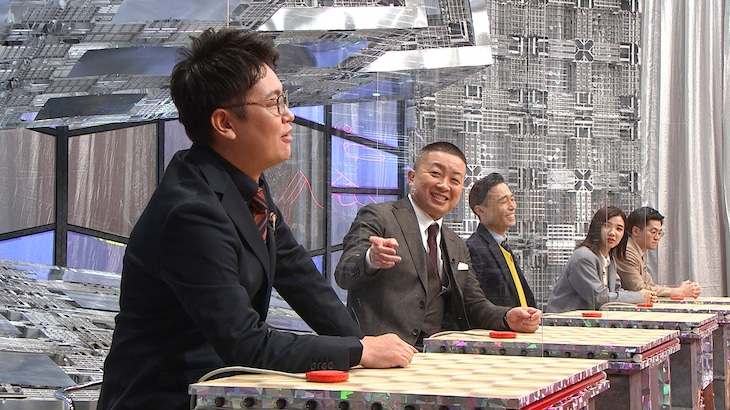 「NO.1ツッコミGP KIREAJI」に挑戦者として出演する(左から)銀シャリ橋本、チョコレートプラネット松尾、カミナリたくみ、3時のヒロイン福田、東京ホテイソンたける。