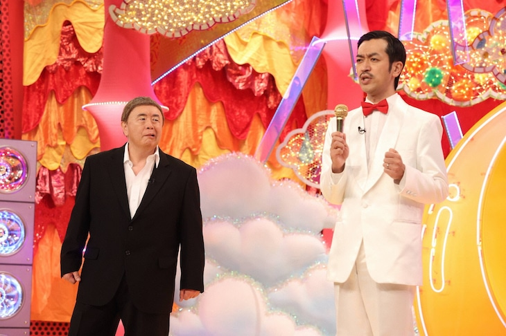 「千鳥のクセがスゴいネタGP」に出演する松村邦洋とムーディ勝山。
