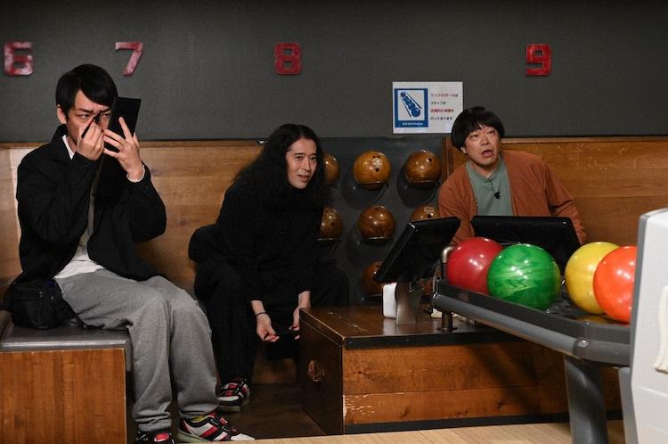 「テレビ千鳥」の「こっそりシュワちゃん選手権!!」に参加する(左から)麒麟・川島、ピース又吉、蛍原徹。