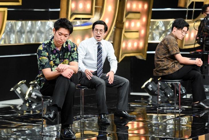 「有田ジェネレーション」に出演する、太田プロ所属の青色1号。(c)TBS