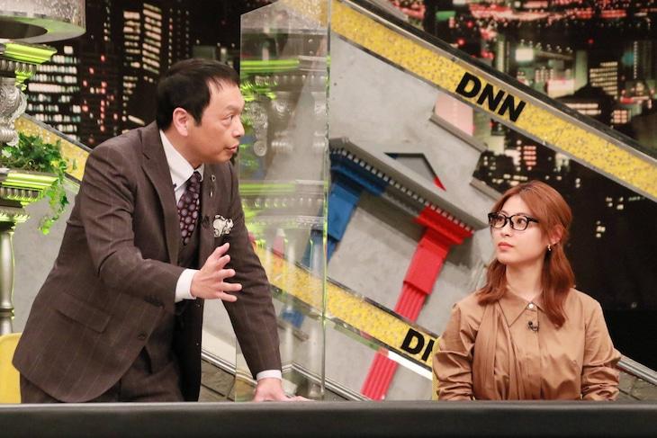 「全力!脱力タイムズ」にゲスト出演する(左から)中川家・礼二、瀧本美織。(c)フジテレビ