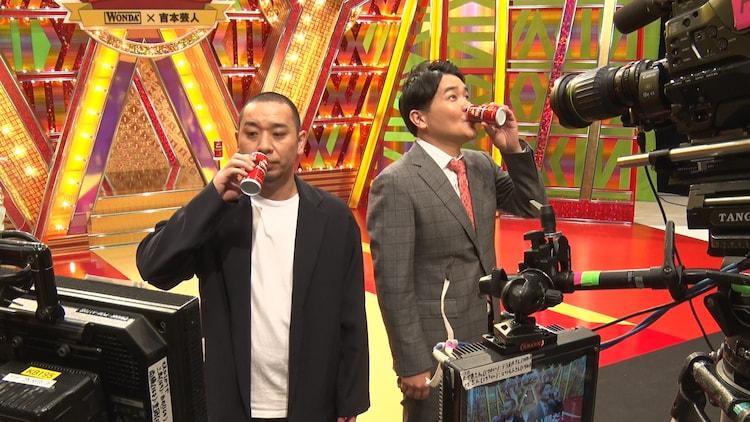 「ワンダ」新CMの撮影中の様子。