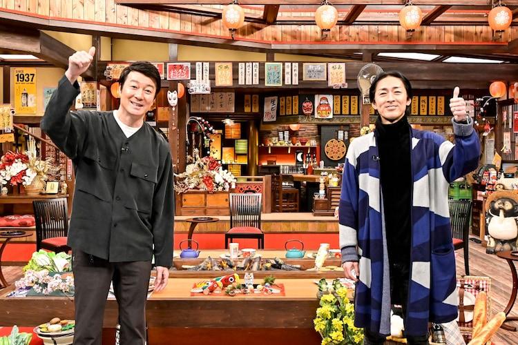 加藤浩次とナインティナイン矢部。(c)TBS