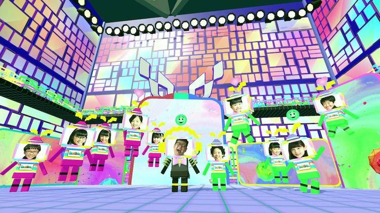 てれび戦士と一般の子供たちが同じ仮想 空間に入って番組に参加する「バーチャル・ プラットフォーム」。