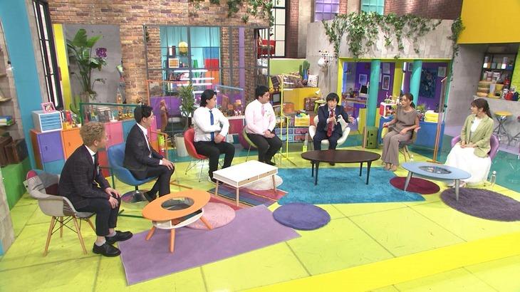 「もしも師」に出演する(左から)ニューヨーク、マヂカルラブリー、バカリズム、みちょぱ、渋谷凪咲。(c)テレビ朝日