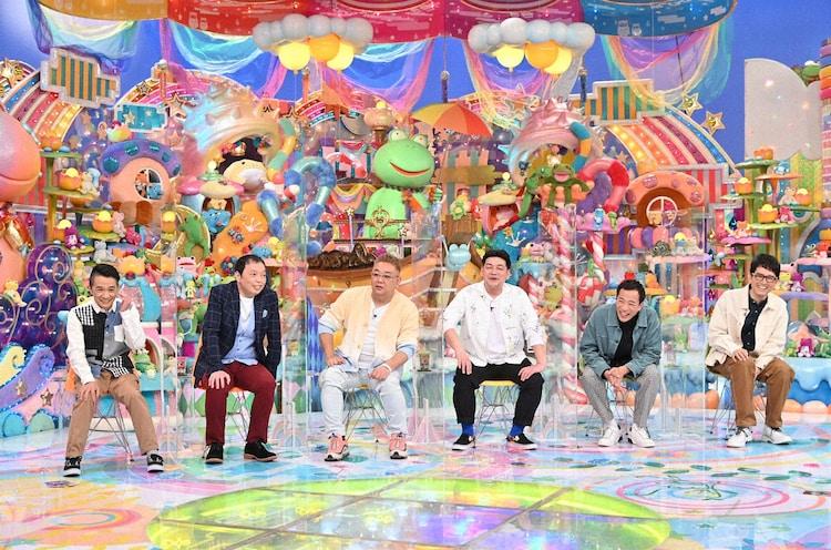 「アメトーーク!」に出演する(左から)中川家、サンドウィッチマン、ナイツ。(c)テレビ朝日