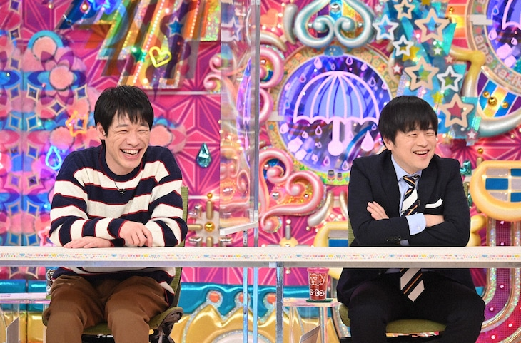 「アメトーーク!」に「マンガ大好き芸人」として出演する麒麟・川島とバカリズム。(c)テレビ朝日