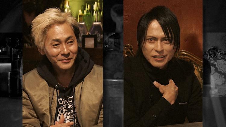 ヒロシ(左)とBUCK-TICKの櫻井敦司(右)。
