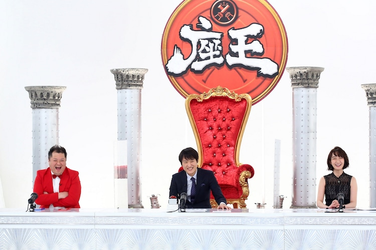 (左から)ブラックマヨネーズ小杉、千原ジュニア、竹上萌奈アナ。(c)関西テレビ