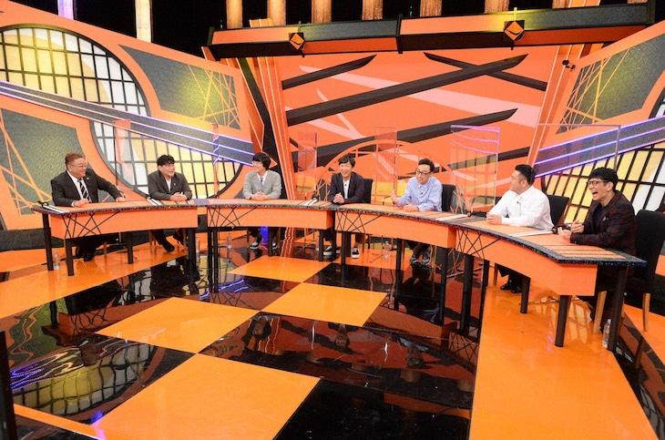 「お笑い実力刃」に出演する(左から)サンドウィッチマン、東京03、アンタッチャブル。(c)テレビ朝日