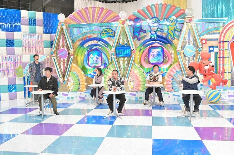 「テレビ千鳥」に出演する(前列左から)麒麟・川島、千鳥、(後列左から)もう中学生、小島瑠璃子、ダイアン・ユースケ。(c)テレビ朝日