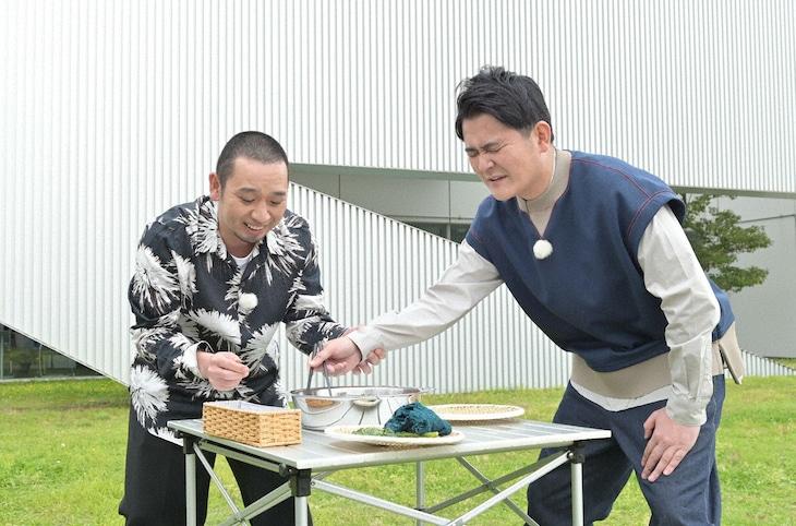 「テレビ千鳥」で展開される「ガマン春菊」のワンシーン。(c)テレビ朝日