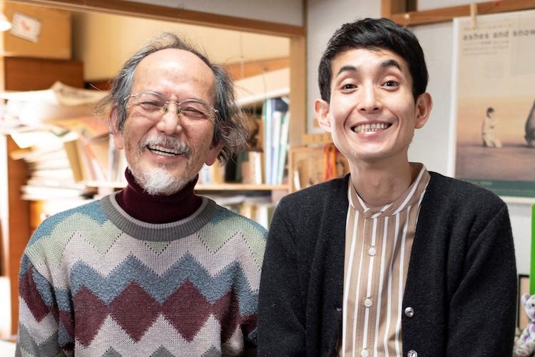 やべみつのり(左)とカラテカ矢部(右)親子。(c)新潮社