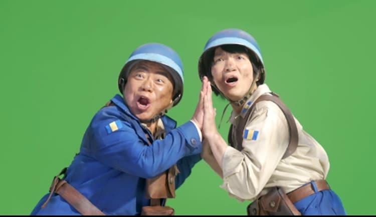 CM撮影中の出川哲朗とパーパー・ほしのディスコ。