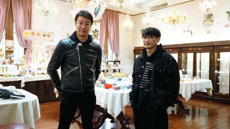 「加藤さんと山口くん THE テレビ」に出演する加藤浩次と山口一郎。(c)STV