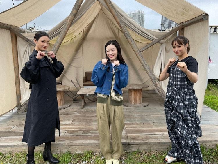 左から菜々緒、永野芽郁、広瀬アリス。(c)日本テレビ