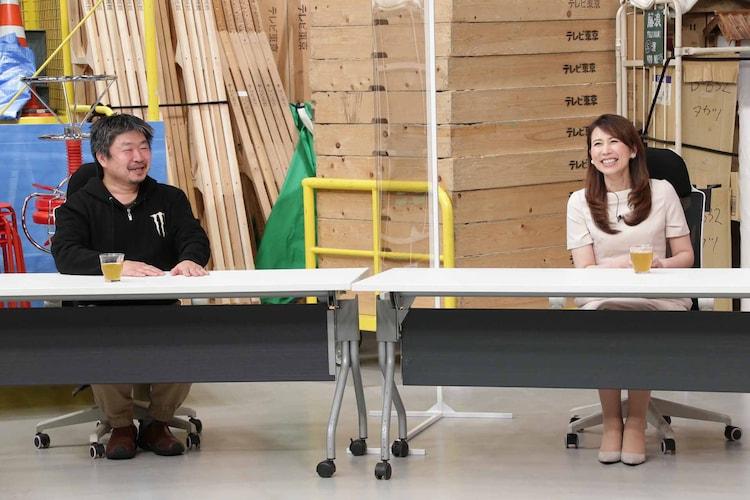 左から、ゲストのTBSドラマプロデューサー植田博樹氏、堀井美香アナウンサー。
