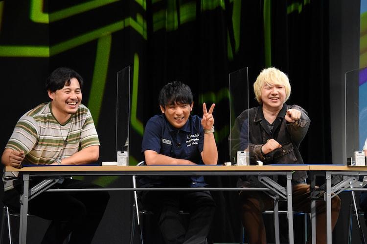 左からアルコ&ピース、三四郎・相田。