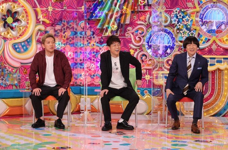 (左から)ニューヨーク嶋佐、陣内智則、蛍原徹。(c)テレビ朝日