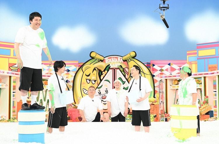(左から)マヂカルラブリー、サンドウィッチマン、バナナマン。(c)TBS