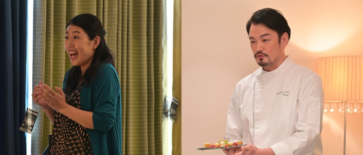 ドラマ「着飾る恋には理由があって」にゲスト出演する横澤夏子(左)、小田井涼平(右)。