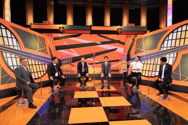(左から)サンドウィッチマン、ナイツ、アンタッチャブル。(c)テレビ朝日