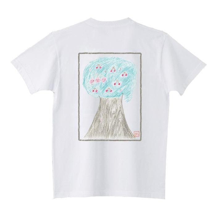 「チェリチェリTシャツ」バックのデザイン。