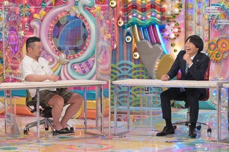 「AVサミット」に出演する(左から)ケンドーコバヤシ、蛍原徹。(c)テレビ朝日