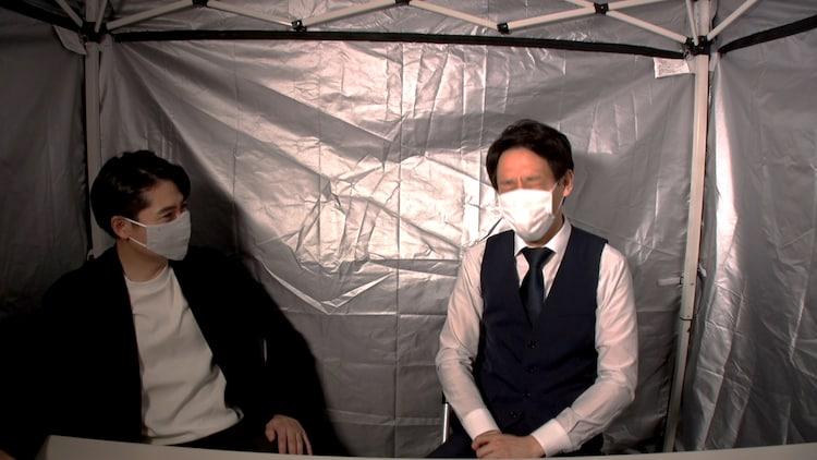 「吐き出し部屋」に出演する(左から)平成ノブシコブシ吉村、囲碁将棋・根建。(c)テレビ朝日