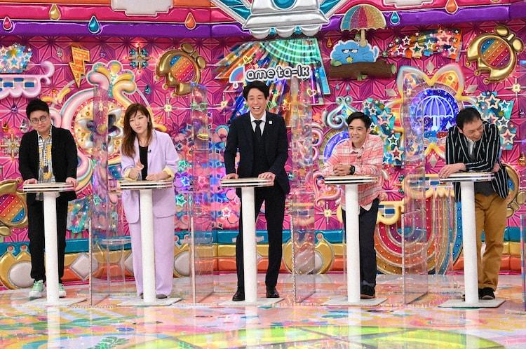 (左から)銀シャリ橋本、ヒコロヒー、囲碁将棋・根建、中川家。(c)テレビ朝日