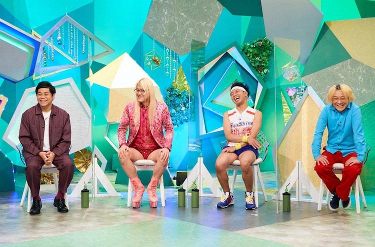 (左から)守谷日和、ZAZY、サンシャイン池崎、永野。(c)ABCテレビ