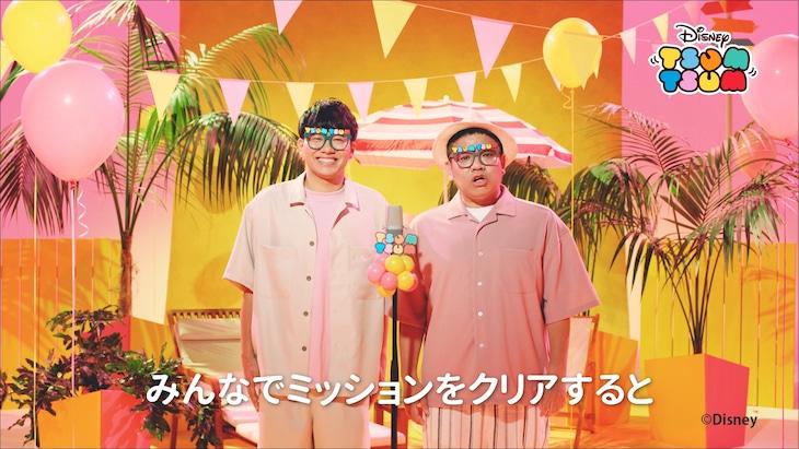 ミキが出演する「LINE:ディズニー ツムツム」のWebCMより。