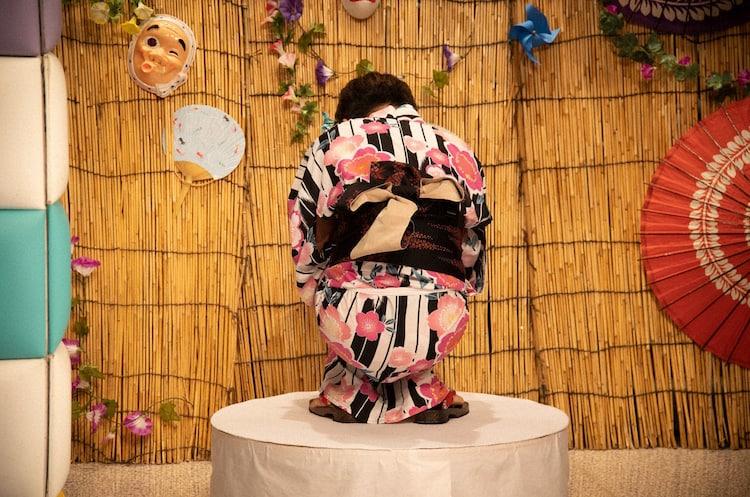 「ノブより愛らしい浴衣ブスはおらんのじゃ!!」のワンシーン。(c)テレビ朝日